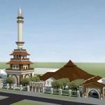 Menara Masjid Agung Sleman Setinggi 68 Meter Mulai Dibangun