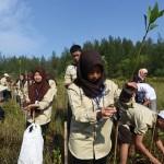 SISWA MENGENAL NUSANTARA 2017 : Di Bengkulu, Pelajar Jateng Tanam Mangrove