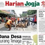 HARIAN JOGJA HARI INI : Dana Desa Kurang Tenaga