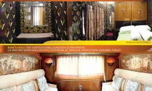 Interior salah satu gerbong KA wisata yang selama ini disewakan PT KAI. (JIBI/Antara)