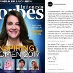 Forbes Coret Anniesa Hasibuan dari Daftar Tokoh Wanita Inspiratif 2017