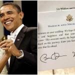Balasan surat dari Barack dan Michele Obama (Twitter)