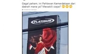 Baliho kontroversial HUT Kemerdekaan Indonesia (Twitter)