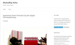 Tulisan di blog Acho terkait Apartemen Green Pramuka.