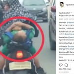 Bocah tiduran saat dibonceng naik motor (Instagram)