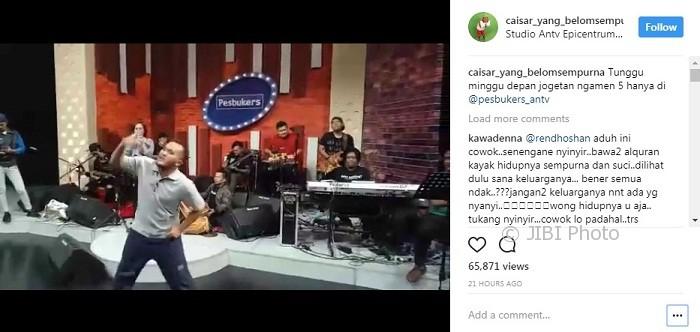 Caisar YKS latihan joget (Instagram @caisar_yang_belomsempurna)