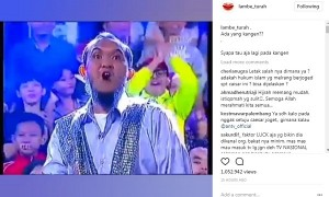 Capture video Caisar tampil di Pesbukers ANTV. (Istimewa/Instagram/@lambe_turah)