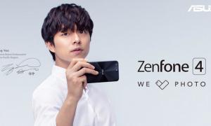 Gong Yoo memamerkan Zenfone 4 (Istimewa)