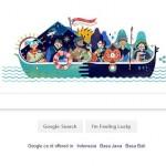 Google Doodle Rayakan Ultah Kemerdekaan RI