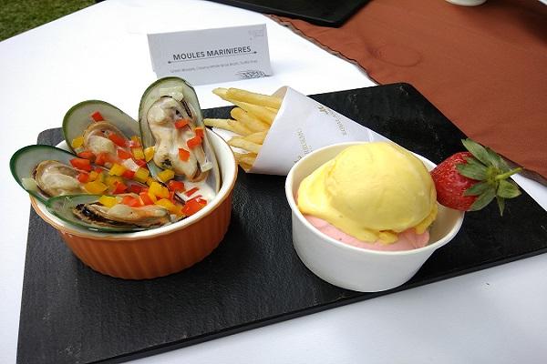 Salah satu menu Sunday Brunch dan Gelato Sorbet yang siap dinikmati di Royal Ambarrukmo Yogyakarta Hotel. (Holy Kartika N.S/JIBI/Harian Jogja)