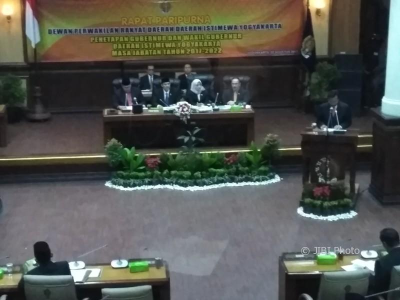 Rapat Paripurna Penetapan Calon Gubernur dan Wakil Gubernur DIY di Gedung DPRD DIY, Rabu (2/8/2017). (JIBI/Harian Jogja/Arief Junianto)