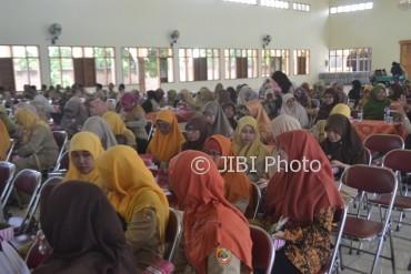 Kepala sekolah Muhammadiyah se-Sukoharjo mengikuti sosialisasi imunisasi Measles dan Rubella (MR) di Gedung Ikatan Persaudaraan Haji Indonesia (IPHI) Sukoharjo, Senin (14/8/2017). (Bony Eko Wicaksono/JIBI/Solopos)