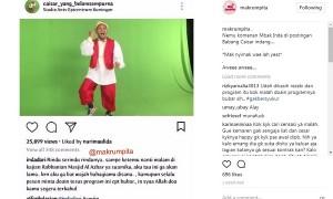 Komentar Indadari pada unggahan Caisar YKS (Instagram @makrumpita)