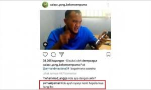 Komentar dari akun yang diduga anak Caisar (Instagram @caisar_yang_belomsempurna)