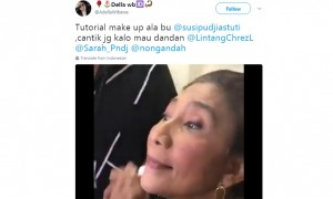 Menteri Susi Pudjiastuti mengaku jarang disebut cantik (Twitter)