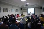 Redaktur pengampu program Wartawan Siswa (Wasis) Solopos, Syifaul Arifin, memberikan materi dasar jurnalistik dalam pelatihan dan seleksi Wasis Solopos, Minggu (13/8/2017). (Solopos-R. Bambang Aris Sasangka)