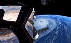 Penampakan Topan Noru yang diunggah akun Twitter @AstroKomrade. (Istimewa/Twitter)
