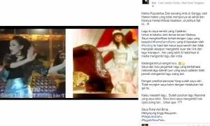 Penjelasan Fauzi Bima tentang lagu terbaru Ayu Ting Ting (Facebook Fauzi Bima)