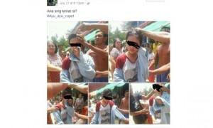 Perempuan pencopet dihakimi warga bikin warganet salah fokus (Facebook)