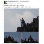 TRENDING SOSMED : Panjat Stupa Candi Borobudur untuk Selfie, Pria Ini Dikecam