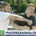 Reporter Rusia dipukul saat siaran langsung (Youtube)