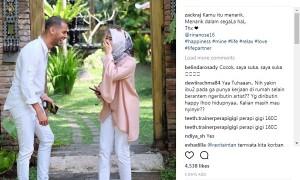 Rina Nose dengan Faraj Achmad (Instagram @zackraj)