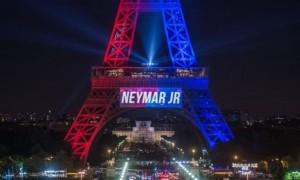 Sambutan kepada Neymar Jr di Menara Eiffel (Bbc.co.uk)