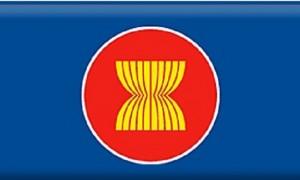 Simbol ASEAN dengan 10 negara anggota. (Asean.org)