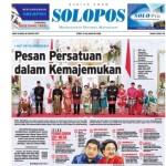 Halaman Depan Harian Umum Solopos edisi Jumat, 18 Agustus 2017.