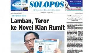 Halaman Depan Harian Umum Solopos edisi Selasa, 1 Agustus 2017.