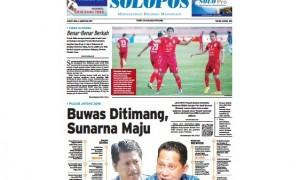 Halaman Depan Harian Umum Solopos edisi Jumat, 4 Agustus 2017.