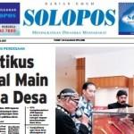 SOLOPOS HARI INI : Pembangunan Perdesaan: Politikus Lokal Main Dana Desa