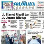 SOLOPOS HARI INI : Soloraya Hari Ini: Jl. Slamet Riyadi dan Jl. Jensud Ditutup