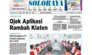 Halaman Soloraya Harian Umum Solopos edisi Selasa, 1 Agustus 2017.