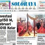 SOLOPOS HARI INI : Soloraya Hari Ini: Investasi Rp150 M, Februari 2018 Kelar