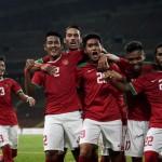 Para pemain Timnas U-22 merayakan gol (JIBI/Solopos/Antara)