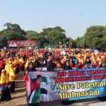 DEMO SRAGEN : 1.500 Pelajar Muhammadiyah Ikuti Aksi Peduli Palestina