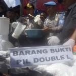 NARKOBA TULUNGAGUNG : 34.300 Pil Koplo Hasil Ungkap Perkara Diblender Polisi