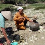 KEKERINGAN SRAGEN : Belik di Tengah Sungai Kering Jadi Tumpuan Warga Glagah Tangen