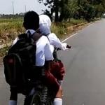 Bocah SD naik motor ngebut (Instagram)