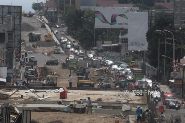 Ilustrasi kemacetan lalu lintas.