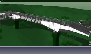 Desain glass sky bridge atau jembatan kaca Kemuning. (Istimewa/Dokumentasi Pemkab Karanganyar)