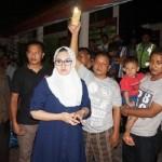 KEBAKARAN KENDAL : Tinjau Pasar Kaliwungu, Bupati Mirna Janjikan Pasar Darurat
