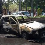 Selesai Dilas, Mobil Fiat Ludes Terbakar di Madiun