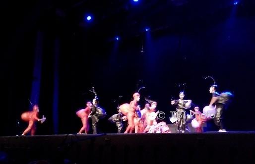 Penampilan teater oleh kelompok Sanggar Anak Semesta, Mataram, berjudul anak semut, pada Pekan Teater Nasional 2017 di Gedung Societi Taman Budaya Jogja, Kamis (10/8/2017). (Abi Mufti/JIBI/Harian Jogja).