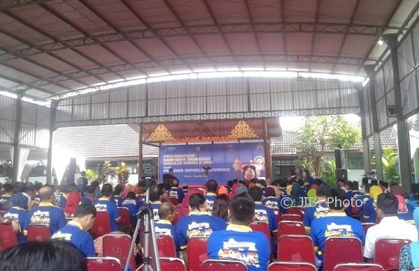 Suasana pencanangan kampanye imunisasi MR di MTsN 10 Sleman. (Abdul Hamied Razak/JIBI/Harian Jogja)