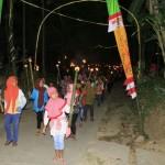 Parade 1.000 Obor Semarakkan Perayaan HUT RI di Tunggur Wonogiri