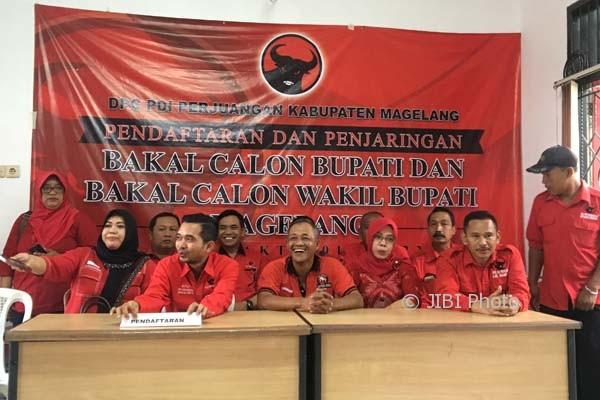 Suasana usai rapat internal pembukaan pendaftaran bakal calon kepala daerah di Panti Marhaen DPC PDIP Prumpung Muntilan, Senin (7/8/2017). (JIBI/Harian Jogja.com/Iistimewa)