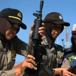 FOTO AKSI POLISI : Wanita Polisi Kudus Uji Terampil