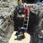 Genangan Air Muncul saat Penggalian Fondasi Gapura Pendapi Gede Balai Kota Solo
